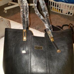 Black Shoulder Bag with Cross Body Bag Inside